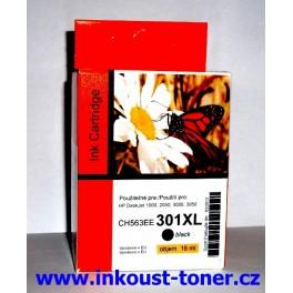 HP 301XL Cartridge černá velká CH563EE  kompatibilní