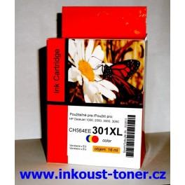 HP 301XL Cartridge barevná velká CH564EE kompatibilní