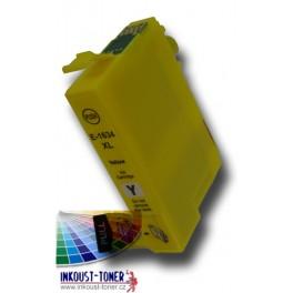cartridge EPSON T1634 XL žlutá - kompatibilní, 16 ml