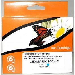 Cartridge kompatibilní s Lexmark 100XL modrá velká (14N1069E)