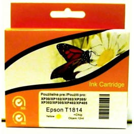 cartridge EPSON T1814 XL žlutá - kompatibilní, 12 ml