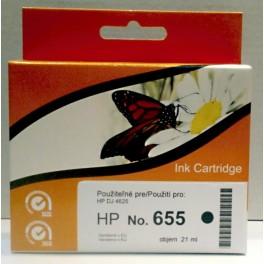 HP 655 (CZ109AE) cartridge černá - kompatibilní, čip