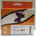 HP 655 (CZ112AE) cartridge žlutá - kompatibilní, čip