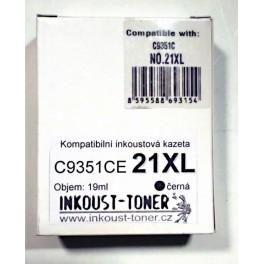 Cartridge černá C9351AE (HP č. 21 XL) - kompatibilní