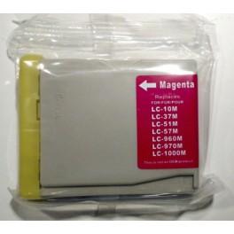 cartridge Brother LC1000/LC970 červená kompatibilní