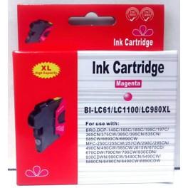 cartridge LC-1100M / LC-980M červená pro Brother - kompatibilní