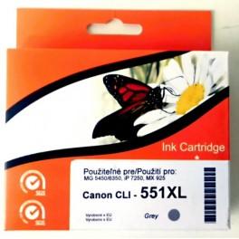 Canon CLI-551XL GY cartridge šedá - kompatibilní