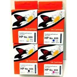 sada náplní HP 655 kompatibilní AB
