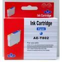 Cartridge Epson T0802 modrá Pigment - kompatibilní