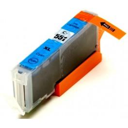 Canon CLI-551XL C cartridge modrá - kompatibilní, čip