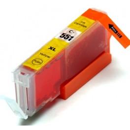 Canon CLI-551XL Y cartridge žlutá - kompatibilní, čip