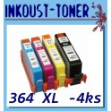 sada kazet 364 XL - b,c,m,y s čipem pro HP - celkem 4 kazety