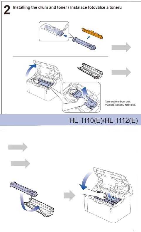 Brother HL-1110(E). HL-1112(E) - návod na výměnu toneru